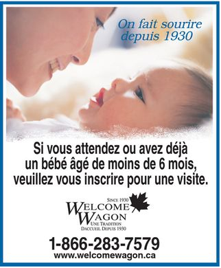 Welcome Wagon Ltd (1-866-283-7579) - Annonce illustr&eacute;e