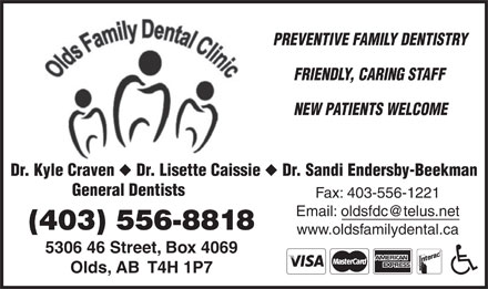 Olds Family Dental Clinic (403-556-8818) - Display Ad