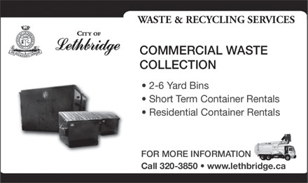 City Of Lethbridge (403-320-3850) - Display Ad