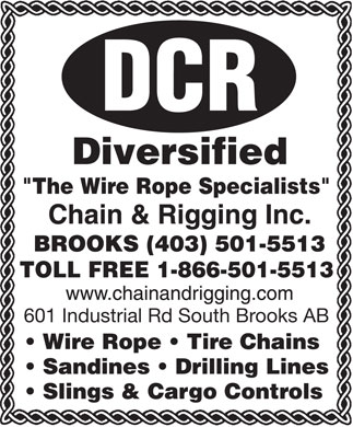 Diversified Chain &amp; Rigging Inc (403-501-5513) - Annonce illustr&eacute;e