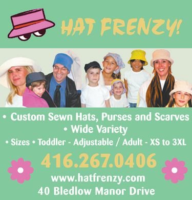 Hat Frenzy (416-267-0406) - Display Ad