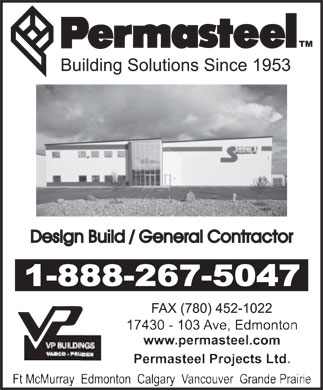 Permasteel Construction Ltd (1-888-267-5047) - Display Ad