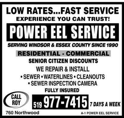 Power Eel Service (519-977-7415) - Display Ad