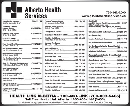 Alberta Health Services (780-408-5465) - Display Ad