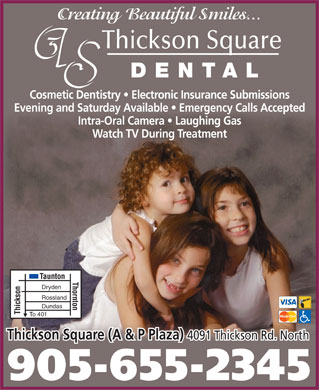 Thickson Square Dental (905-655-2345) - Annonce illustrée