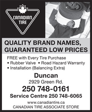 Canadian Tire Associate Store (250-748-0161) - Display Ad