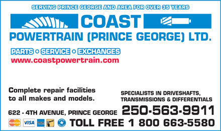 Coast Powertrain (Prince George Ltd) (250-563-9911) - Annonce illustrée