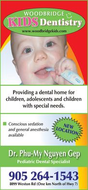 Woodbridge Kids Dentistry (905-264-1543) - Display Ad