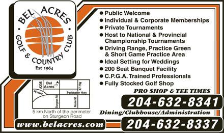 Bel Acres Golf &amp; Country Club (204-632-8341) - Display Ad