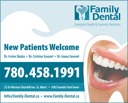 Family Dental (780-458-1991) - Annonce illustr&eacute;e