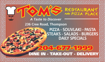 Tom's Restaurant & Pizza Place (204-677-1999) - Annonce illustrée