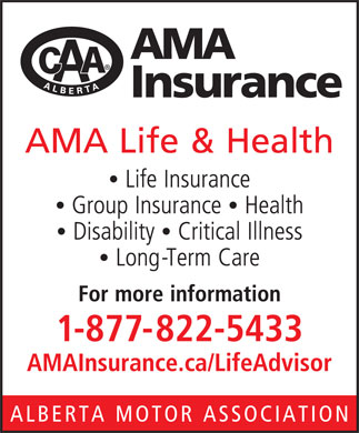 AMA Insurance (1-877-822-5433) - Display Ad