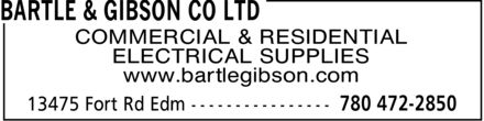 Bartle &amp; Gibson Company  Limited  (780-472-2850) - Display Ad