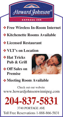 Howard Johnson Express Inn (204-800-7893) - Display Ad