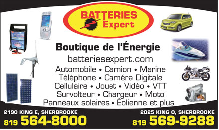 Boutique De L'Energie Batteries Expert (819-569-9288) - Display Ad