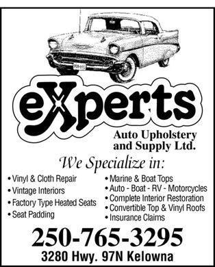 experts auto upholstery supply ltd 3280 highway 97 n kelowna bc. Black Bedroom Furniture Sets. Home Design Ideas