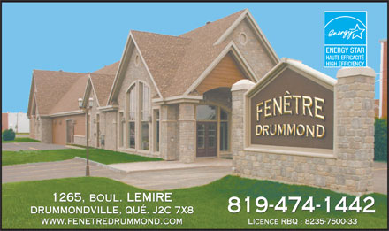 Fen tre drummond enr 1265 boul lemire o drummondville qc for Fenetre energy star quebec