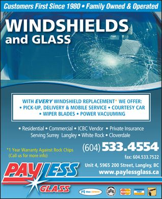 Payless Glass Ltd (604-533-4554) - Display Ad