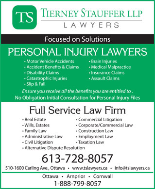 Tierney Stauffer LLP (613-728-8057) - Annonce illustr&eacute;e