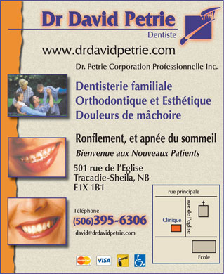 Dr David Petrie (506-395-6306) - Display Ad