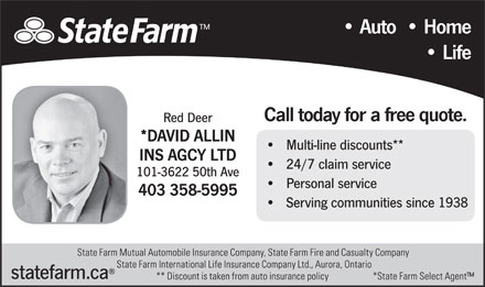 State Farm Insurance (403-358-5995) - Display Ad