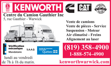 centre du camion gauthier inc 5 rue gauthier warwick qc. Black Bedroom Furniture Sets. Home Design Ideas