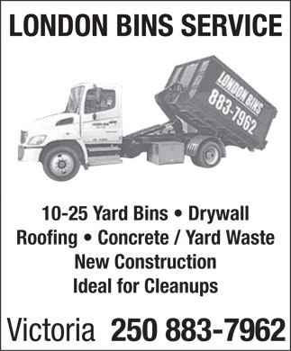 London Bins Service (250-883-7962) - Annonce illustr&eacute;e