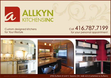 Allkyn Kitchens Inc (416-787-7199) - Display Ad