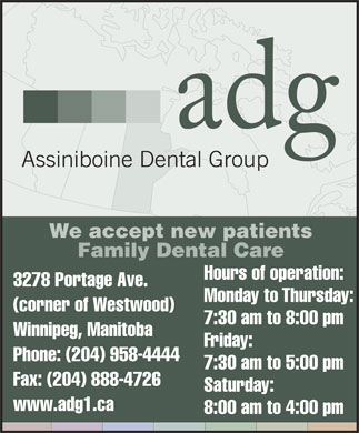 Assiniboine Dental Group (204-958-4444) - Display Ad