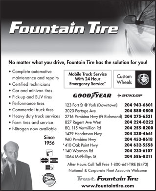 Fountain Tire (1-800-661-8473) - Display Ad