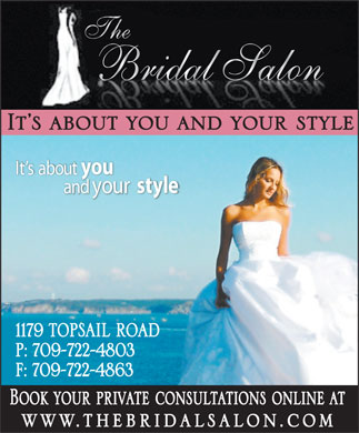 The Bridal Salon (709-700-2589) - Annonce illustrée