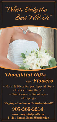 Thoughtful Gifts and Flowers (416-789-2325) - Annonce illustrée