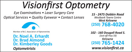 Visionfirst Optometry (250-768-4020) - Annonce illustrée