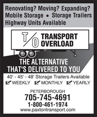 Transport Overload (705-745-4691) - Display Ad - 705-745-4691 705-745-4691