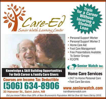 Senior Watch Inc (506-634-8906) - Annonce illustrée