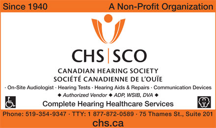 Canadian Hearing Society The (519-354-9347) - Annonce illustrée