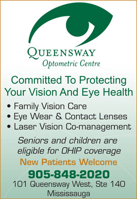 Queensway Optometric Centre (905-848-2020) - Display Ad