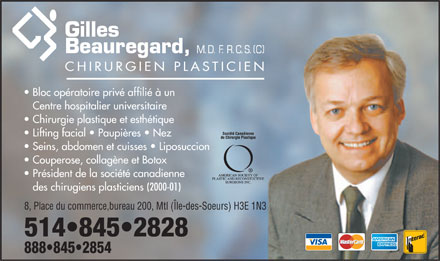 Beauregard Gilles Dr (438-899-8338) - Annonce illustr&eacute;e