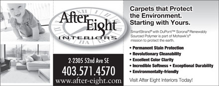 After Eight Interiors Ltd (403-571-4570) - Display Ad - 2-2305 52nd Ave SE 403.571.4570 www.after-eight.com