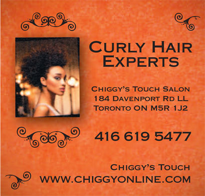 Chiggys Touch (416-619-5477) - Display Ad