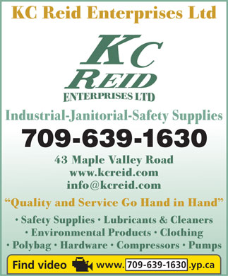 Reid K C Enterprises Ltd (709-639-1630) - Display Ad