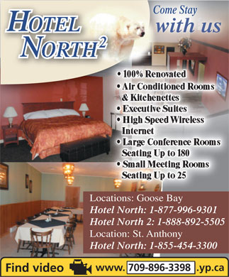 Hotel North 2 (1-888-892-5505) - Display Ad