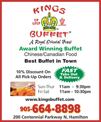 Kings Buffet (905-664-8898) - Display Ad