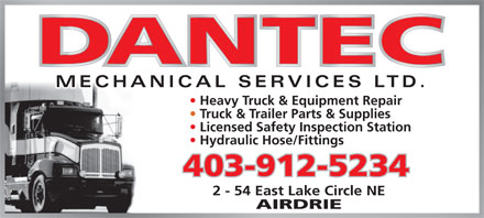 Dantec Mechanical Services Ltd (403-912-5234) - Annonce illustrée