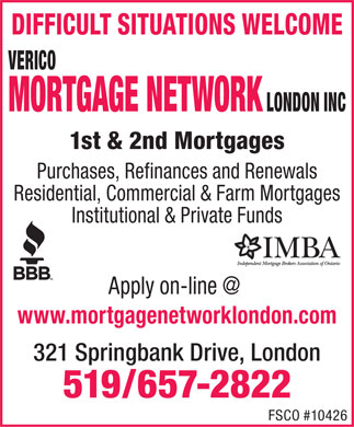 Mortgage Network London Inc (519-657-2822) - Display Ad