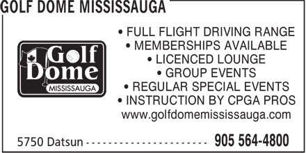 Last Minute Golfer Dome (905-564-4800) - Annonce illustrée======= - GOLF DOME MISSISSAUGA - GROUP GOLF EVENTS - GOLF INSTRUCTION