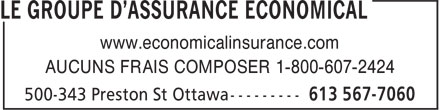 Economical Insurance (613-567-7060) - Annonce illustrée - www.economicalinsurance.com