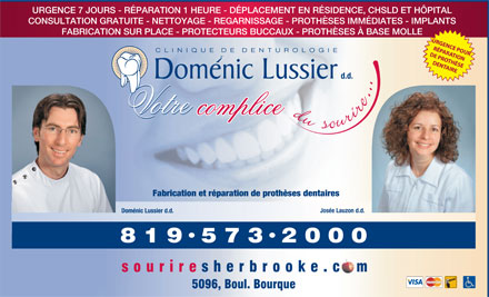 Clinique De Denturologie Doménic Lussier (819-573-2000) - Display Ad