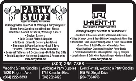 Party Stuff Paper &amp; Plastic Partyware (204-786-8756) - Display Ad