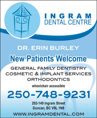 Ingram Dental Centre (250-709-0858) - Annonce illustrée - wheelchair accessible wheelchair accessible